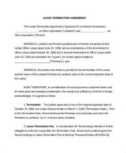 Lease Termination Agreement Sle by Lease Termination Form 10 Free Documents In Pdf Doc
