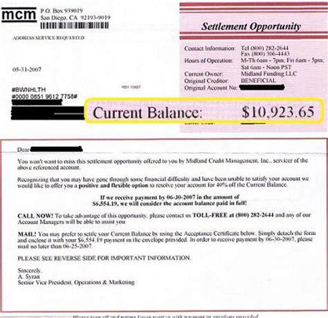 Midland Credit Management Letter Midland Credit Debt