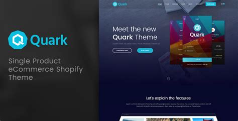 shopify themes for single product quark single product shopify theme themekeeper com