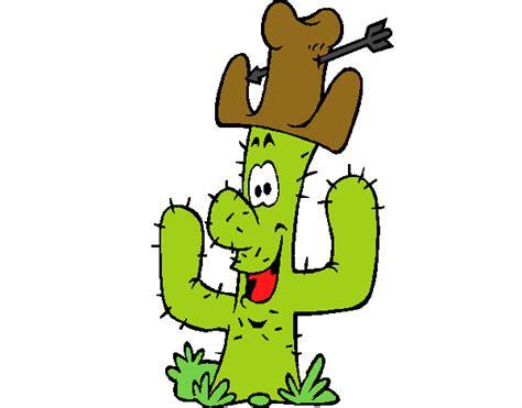dibujo de cactus con sombrero para colorear dibujo de cactus con sombrero para colorear