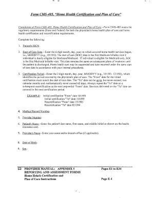 fillable ohiohcp form cms 485 home health