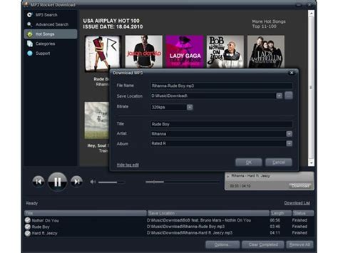 Free download mp3 rocket download mp3 player and tools software