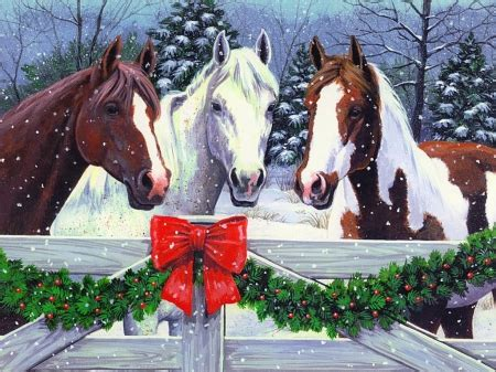 christmas wallpaper with horses christmas horses other abstract background wallpapers