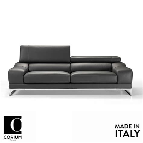 home leather sofa praga leather sofa by corium italia om furniture