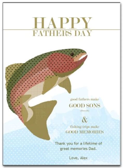 Printable Fishing Fathers Day Card Template