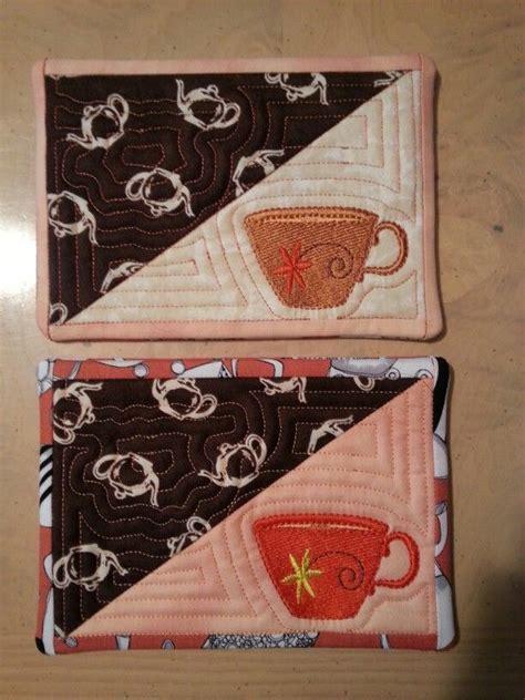 mug rug in the hoop quot in the hoop quot mug rugs my creations