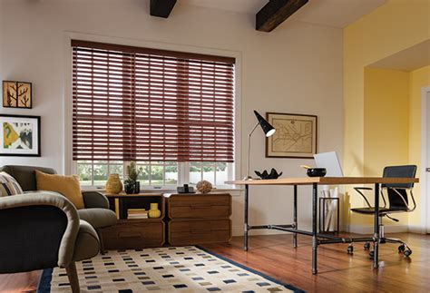 home office window treatments faux wood blinds graber faux wood blinds home office design modern home office denver