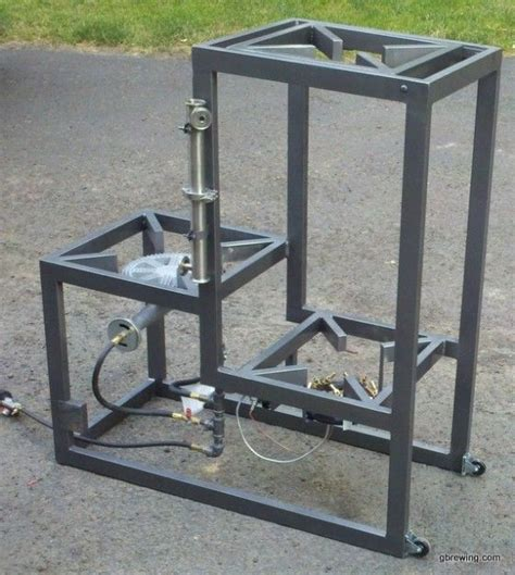 3 tier homebrew system with brewing stand is