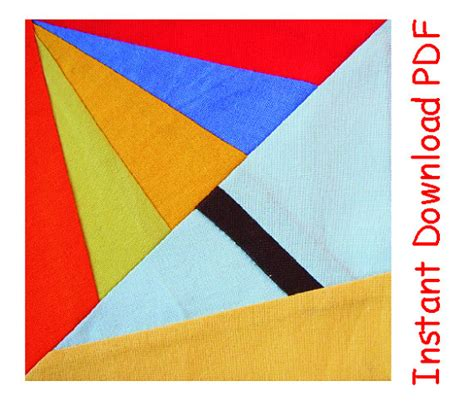 pattern for paper umbrella umbrella paper pieced instant download pdf pattern quilt block