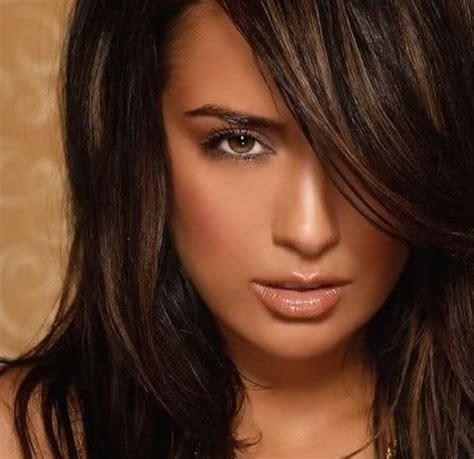 hair color ideas for brunettes funky with highlights