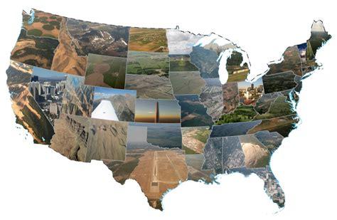 united states flight map landing brad in motion