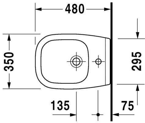 bidet zeichnung d code bidet sospeso compact 223715 duravit