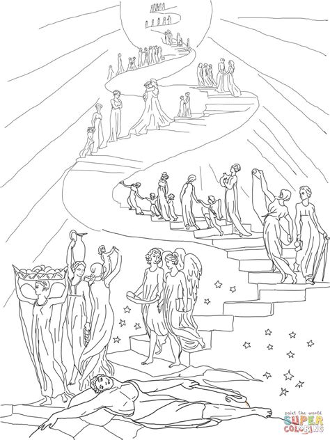 free bible coloring pages jacob s ladder 301 moved permanently