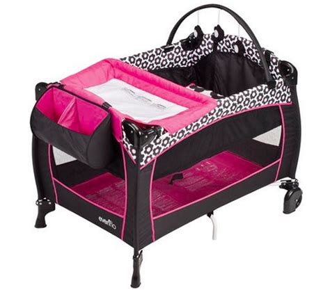 Portable Crib With Changing Table Pink Portable Bassinet Baby Changing Table Play Mat Crib Furniture Bedding Play Pens