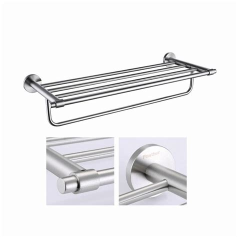 wall mounted bathroom towel rack finether towel rack bathroom towel shelf stainless steel