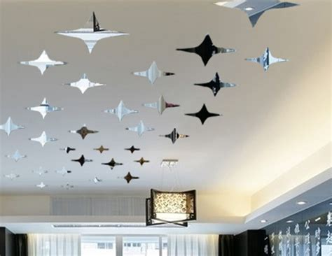 50pcs twinkle ceiling decor diy mirror 3d wall