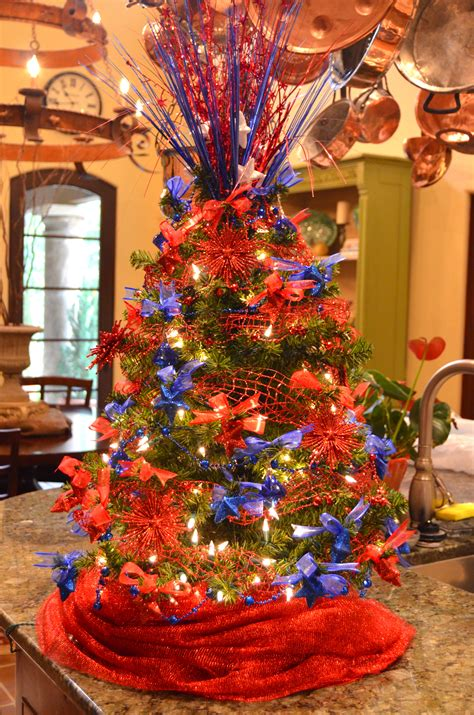 best 28 blue and orange christmas tree flocked