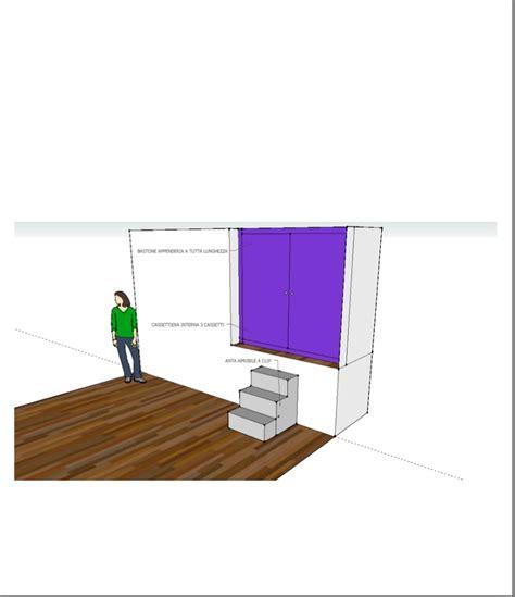 progetto armadio progetto armadio su misura con cassttiera e scaletta