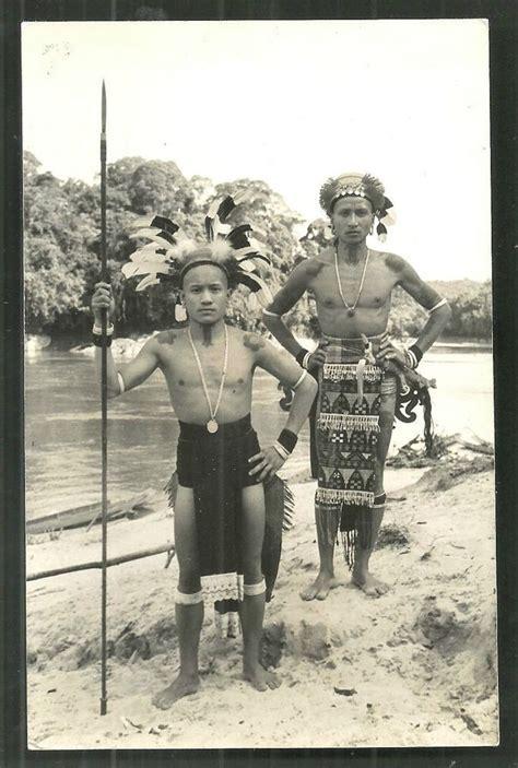 dayak tribe tattoo details about dayak warriors tattoo spear sarawak borneo
