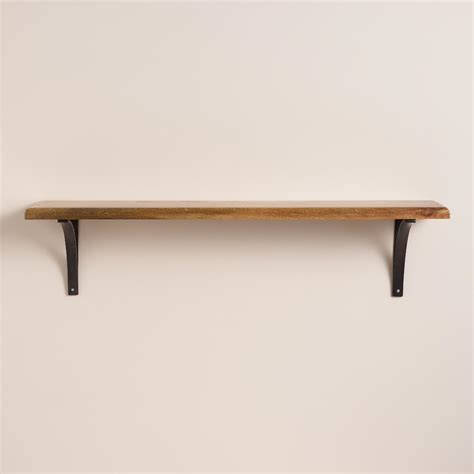 Wood Ledge Shelf by Large Wood Wall Shelf Interior Design Nousdecor