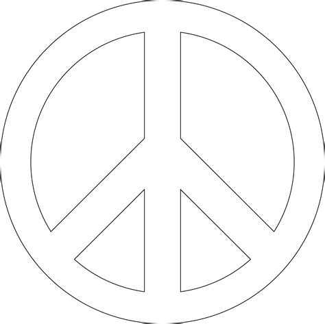 symbol templates peace symbol png transparent hd images png only