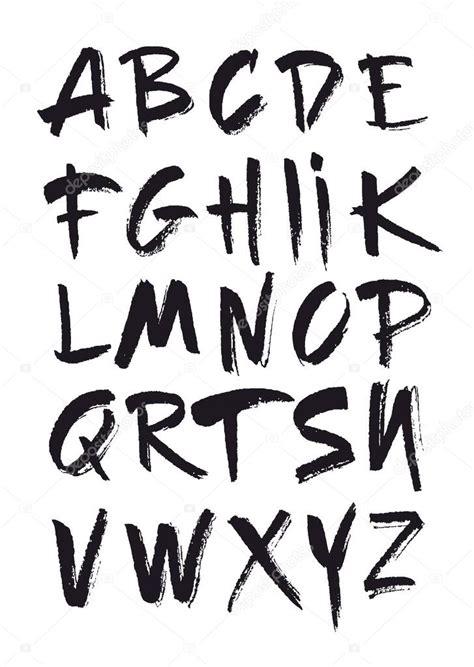 imagenes retro letra abecedario dibujado mano en estilo retro abc para su