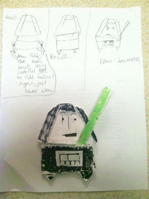 How To Make A Origami Darth Vader Finger Puppet - darth vader search results origami yoda page 4