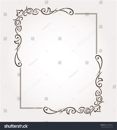 Decoration De Page by Calligraphic Frame And Page Decoration Vector