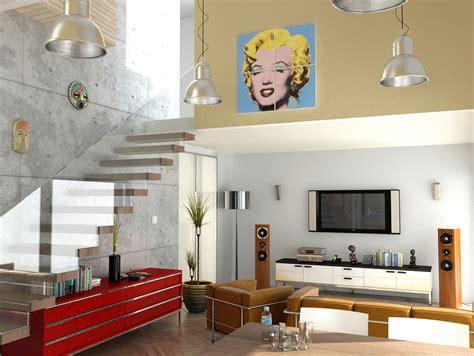 understated bedroom decor pop art interior design ideas home entertainment spaces