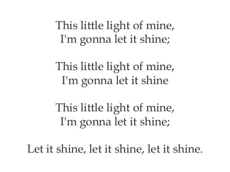 This Light Of Mine Lyrics by Songs For Projection Vbs 6 2015