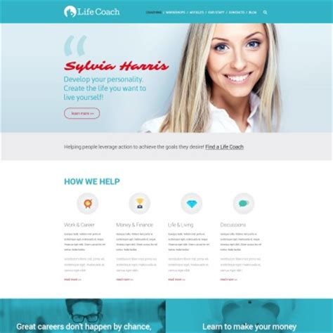 website templates for life coaches life coach website templates
