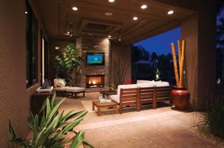outdoor tv enclosure   outdoor entertainment area