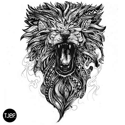 wild fire lion maori by jeffgraffit on deviantart