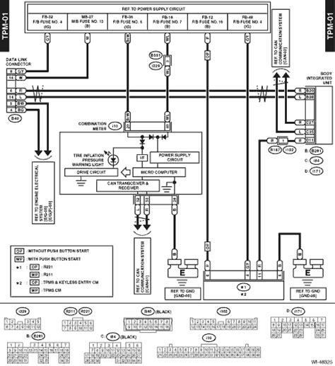 tpms wiring diagram tire pressure monitoring page 2 subaru crosstrek service manual tire pressure monitoring system wiring diagram wiring system