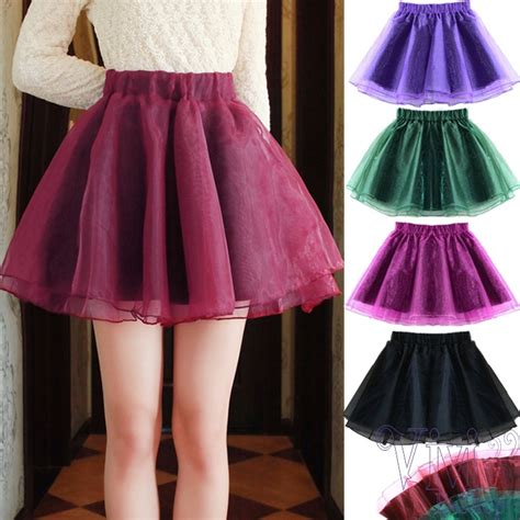 new 2015 fashion high waist organza tutu mini skirt