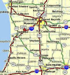 of west cus map west michigan map