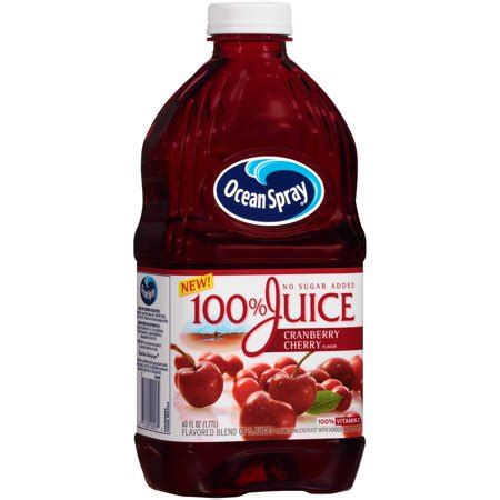 ocean spray 100% juice, cranberry cherry, 60 fl oz, 1