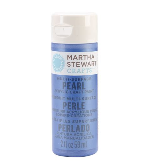 martha stewart pearl acrylic craft paint 2 ounces cornflower jo