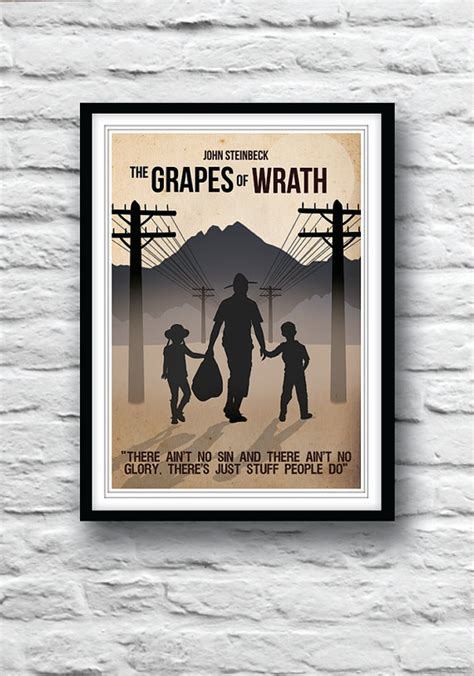 themes in grapes of wrath with quotes unavailable listing on etsy