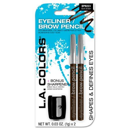 la colors eyeliner la colors eyeliner brow pencil sharpener brown