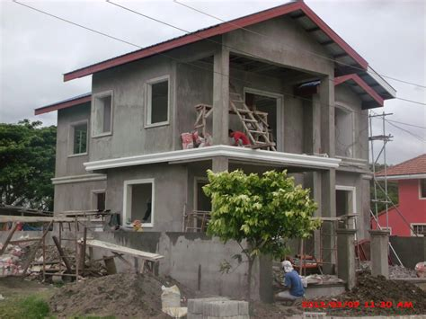 simple two storey house design in the philippines savannah trails house construction project in oton iloilo philippines phase 3 lb