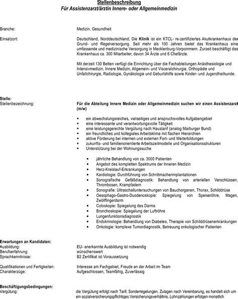 Bewerbungsschreiben Assistenzarzt Radiologie Stellenangebot Assistenzarzt 228 Rztin Innere Oder