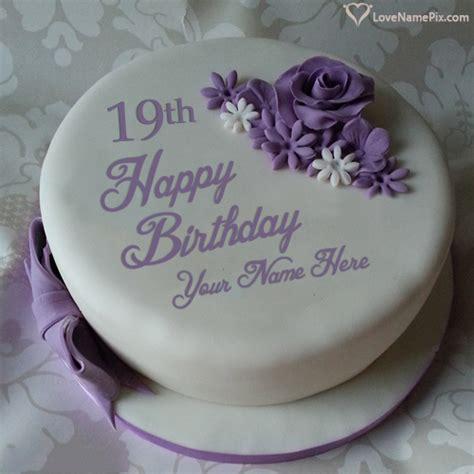 Beautiful Violet Rose Th  Ee  Birthday Ee   Cake Name Gene Or