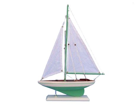 Sailboat Models For Decoration by Buy Wooden Green Pacific Sailer Model Sailboat Decoration