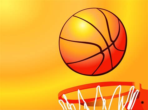 Basketball Hoop Sport Backgrounds Orange Sports Yellow Templates Free Ppt Backgrounds And Basketball Powerpoint Template Free