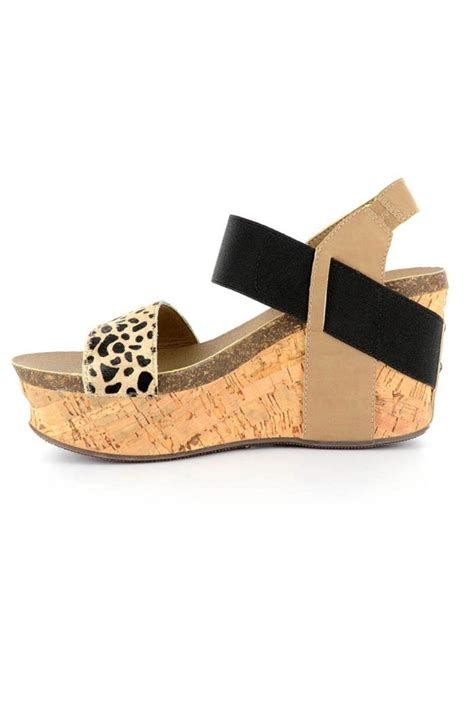corkys cheetah wedge from nashville by the peacock