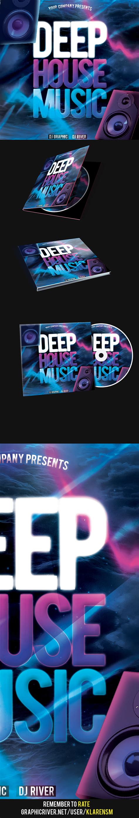 house music cd deep house music cd cover psd template on behance