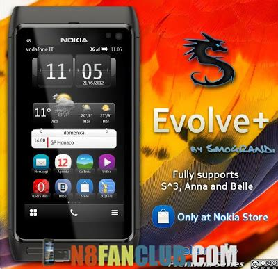 download theme effects for nokia n8 evolve plus theme with 1500 third party icons nokia n8