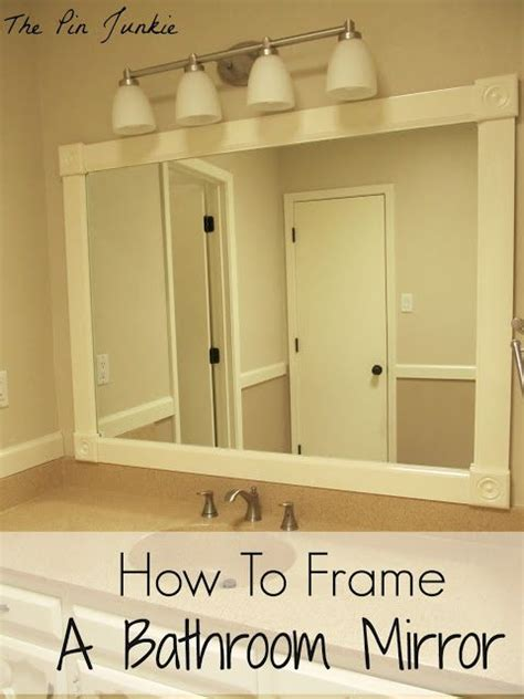 do it yourself framing a bathroom mirror how to frame a bathroom mirror frame bathroom mirrors