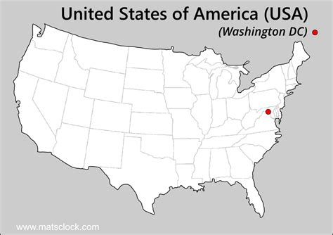 washington dc map of usa usa time time now in usa find current time of any
